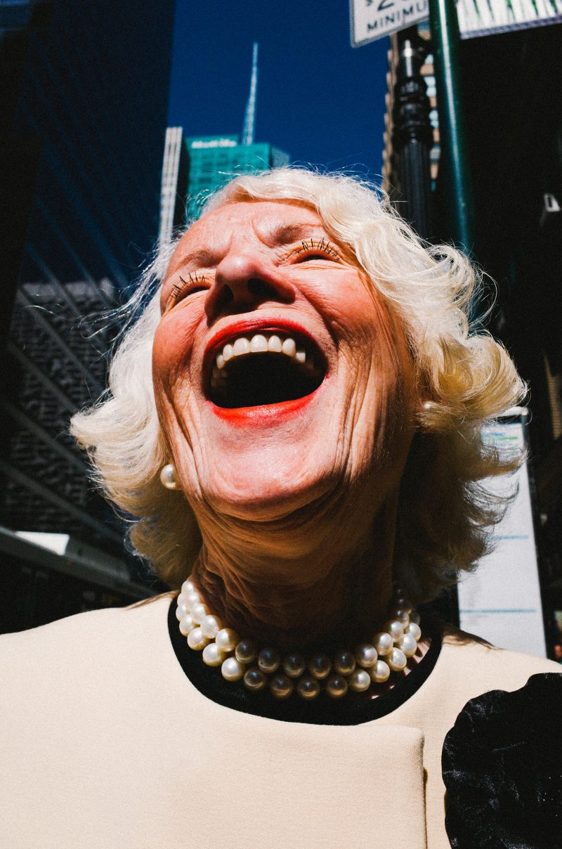 eric kim laughing lady nyc