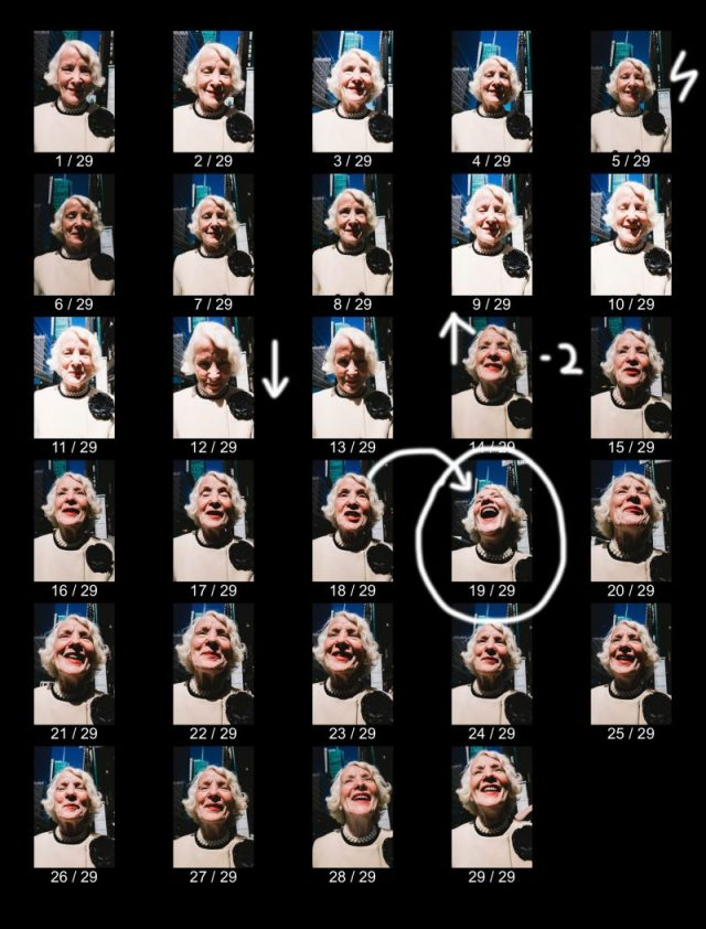 LAUGHING LADY by Eric Kim Contact Sheets from MASTERS
