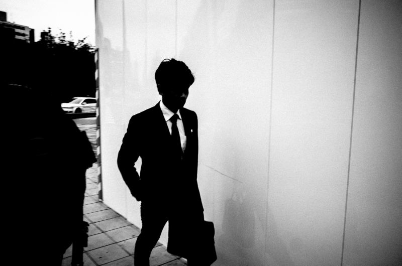 Man in suit. Tokyo, 2016