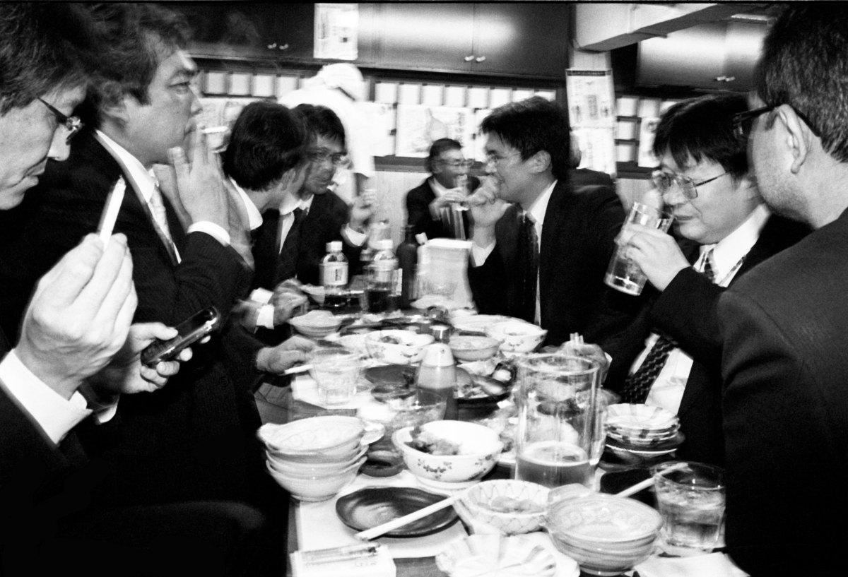 Salary men drinking. Tokyo, 2011