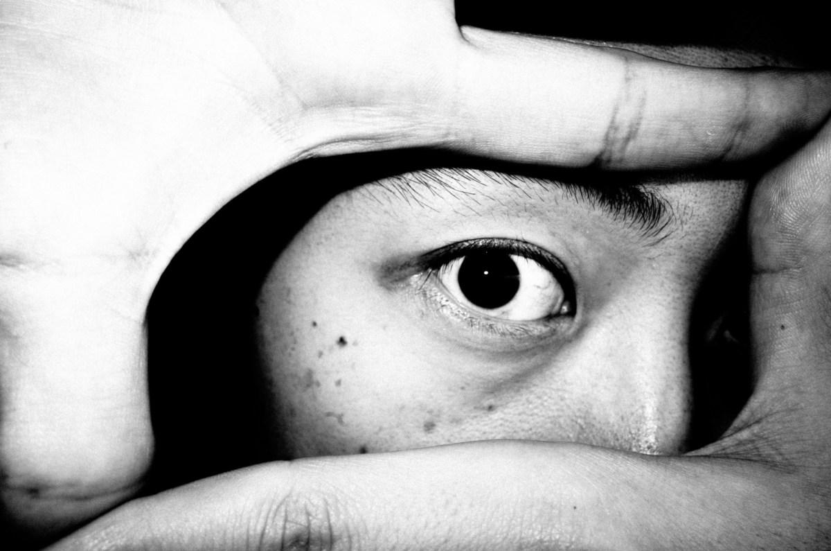 Eric Kim eye, with flash. Shot by Cindy Nguyen