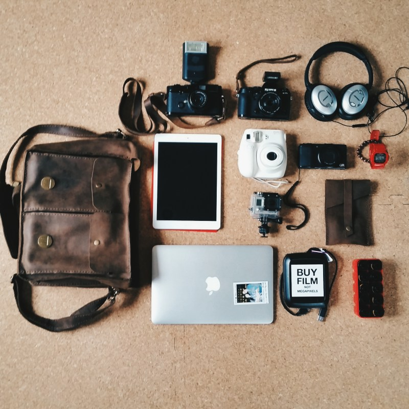 Stuff I used to travel with, in my bag. Tokyo, 2015.