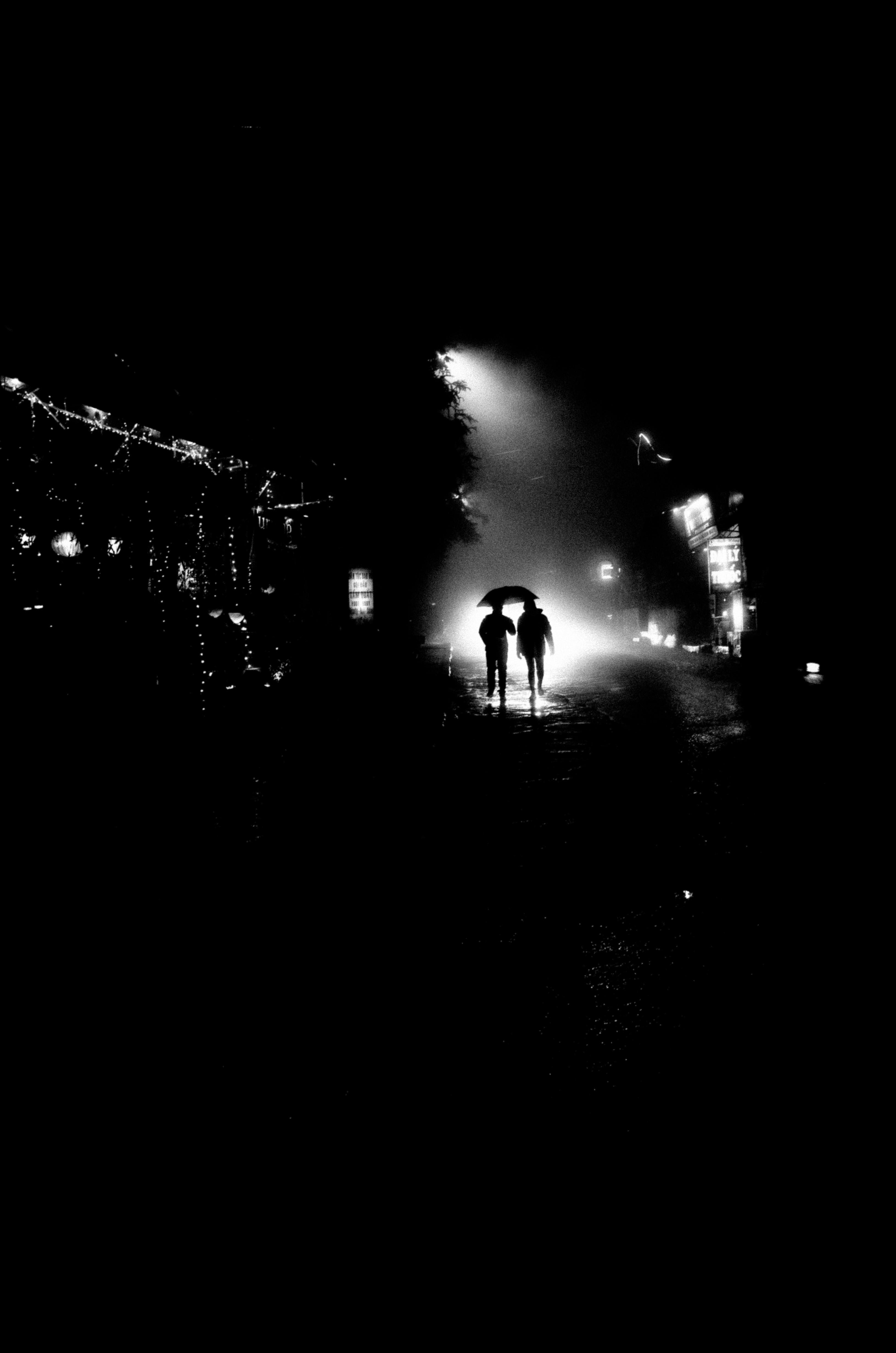 Black and white silhouette. Sapa, 2017.