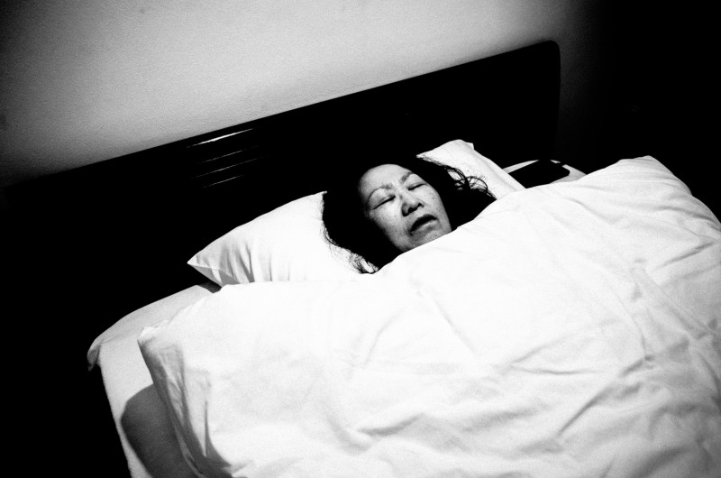 My mom in bed. Hanoi, 2017.