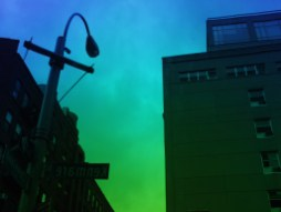Blue and green urban landscape. NYC, 2017