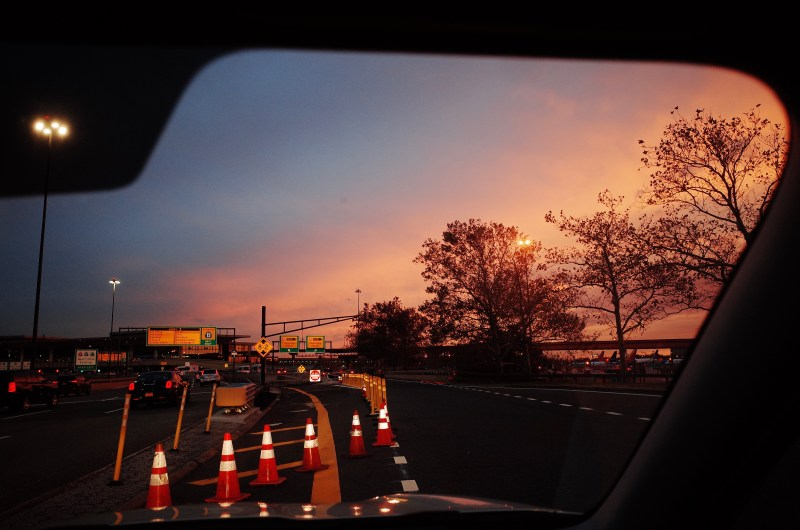 Sunset at airport. Fort Lee, 2017
