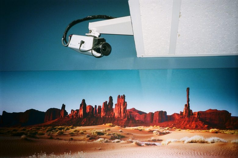 Surreal street photo: why is there a security camera in the desert? Photo by ERIC KIM