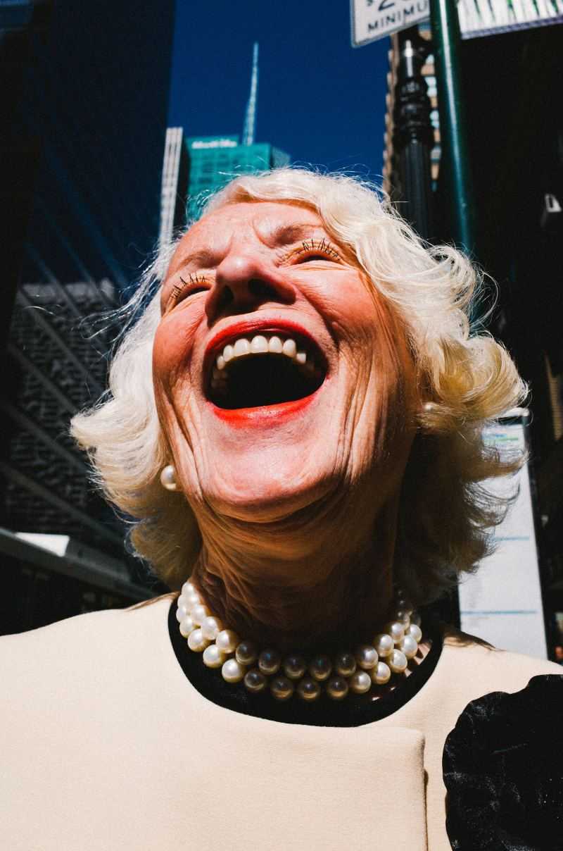 Laughing lady eric kim. NYC, 2015