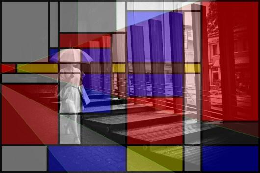 Elegance. Eric Kim umbrella composition Bauhaus. Annette Kim / haptic industries