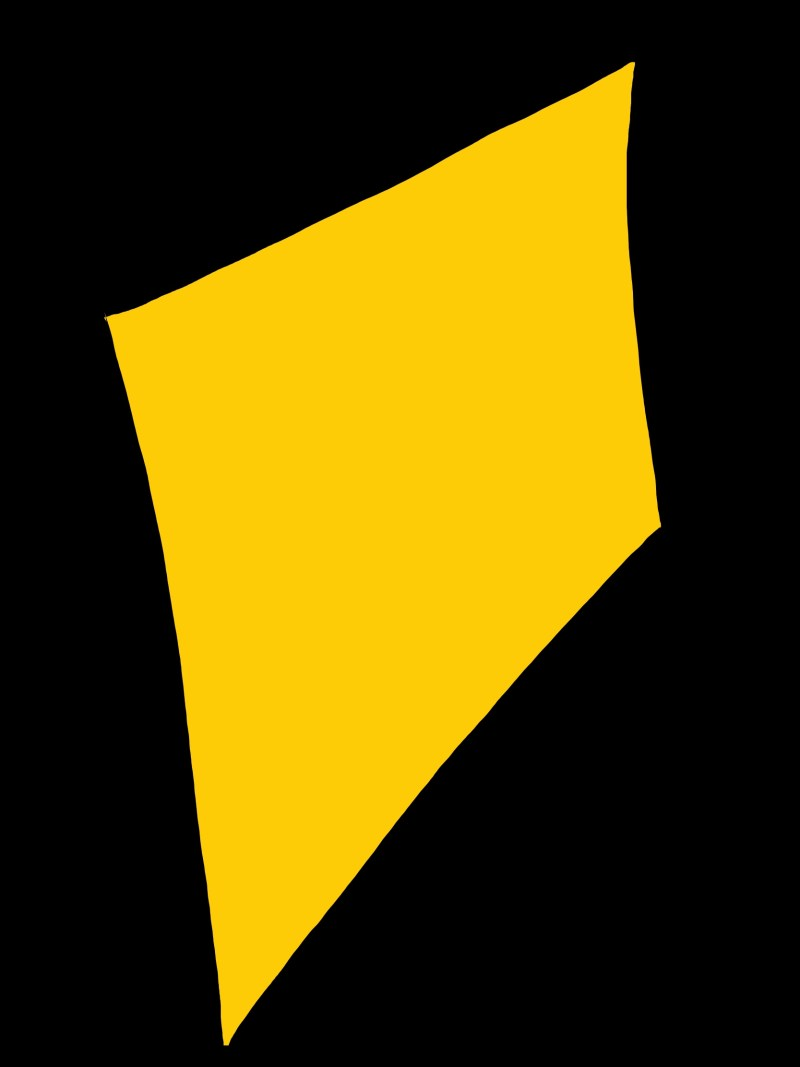 Yellow polygonal shape.