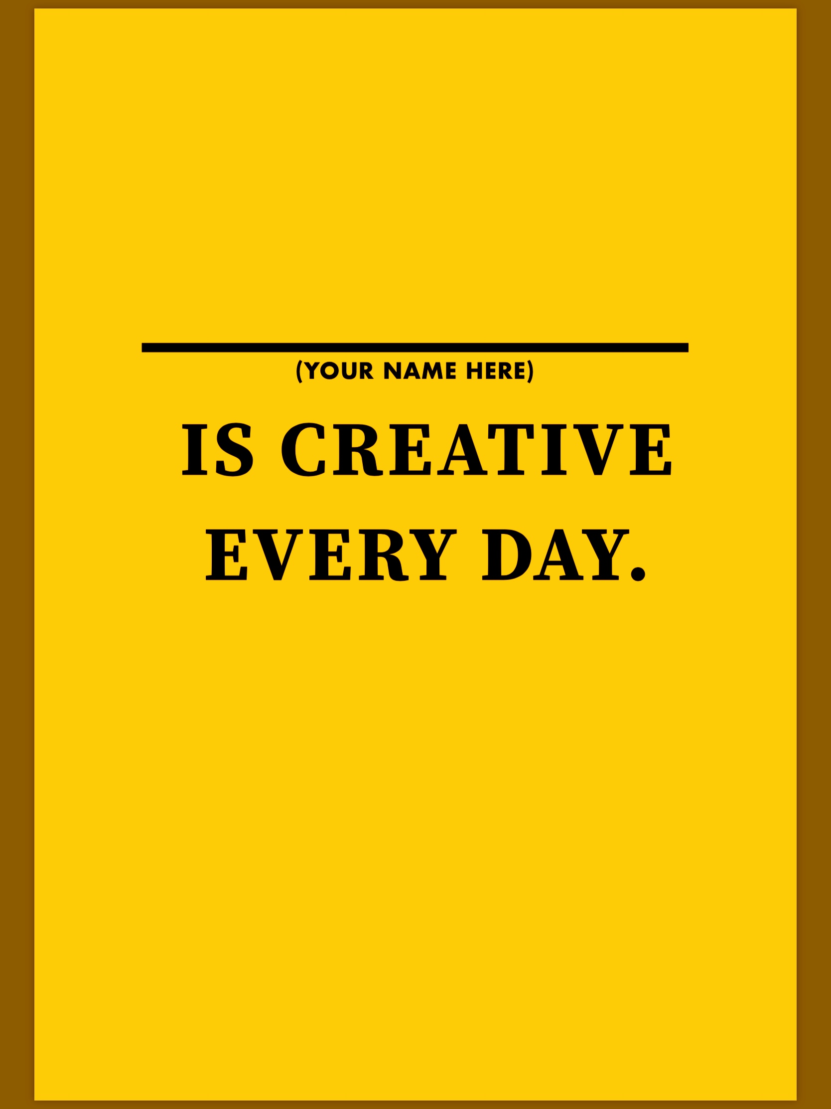 How to Be Creative Every Day