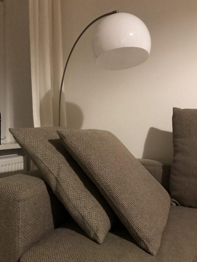 Lamp in living room. Shot on iPad.