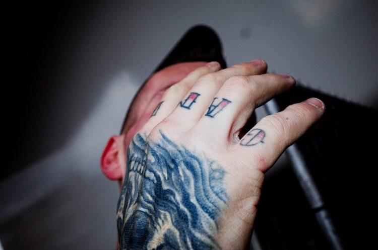 Hand tattoo. Amsterdam, 2017