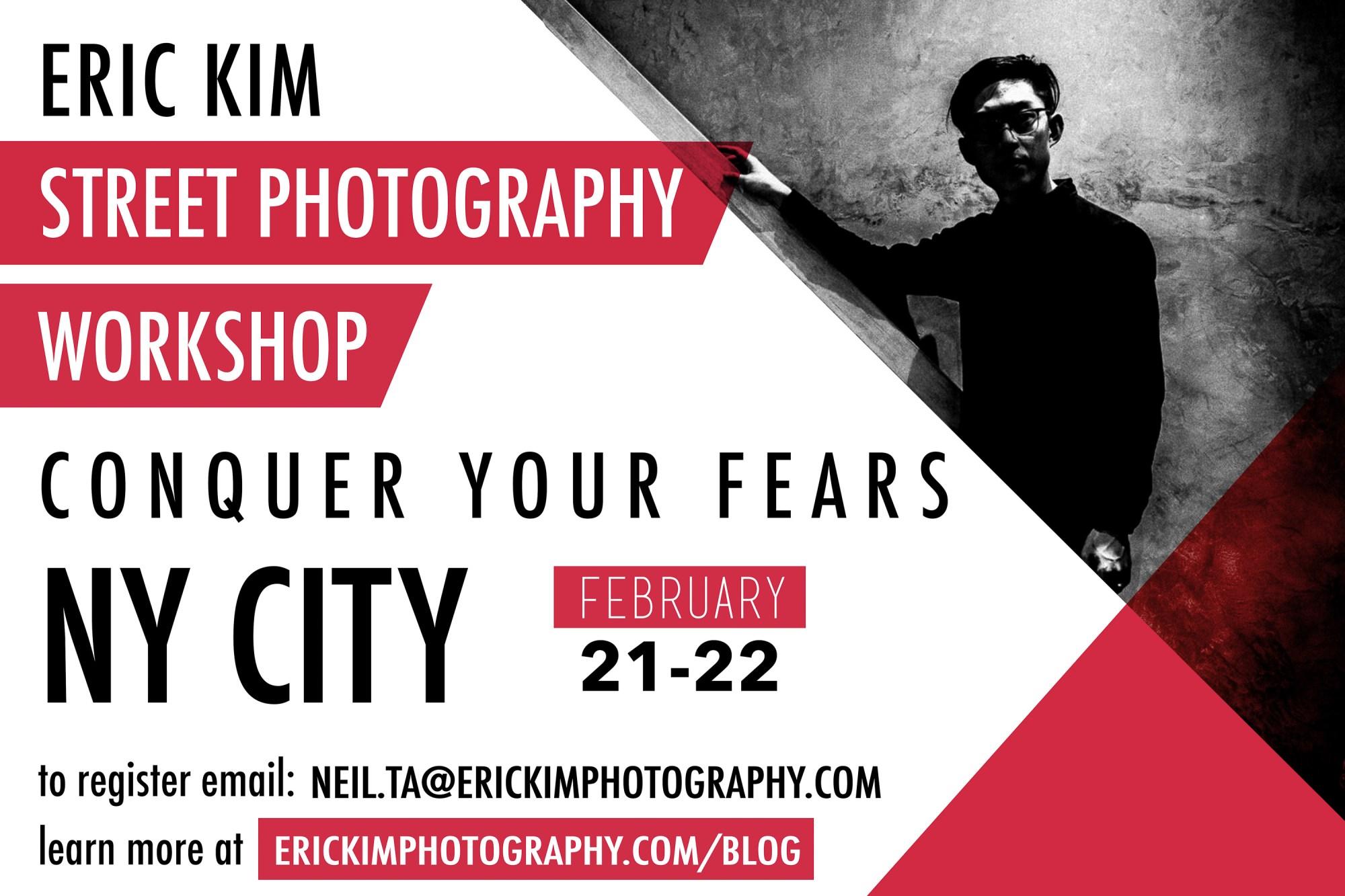 Eric Kim conquer fear nyc