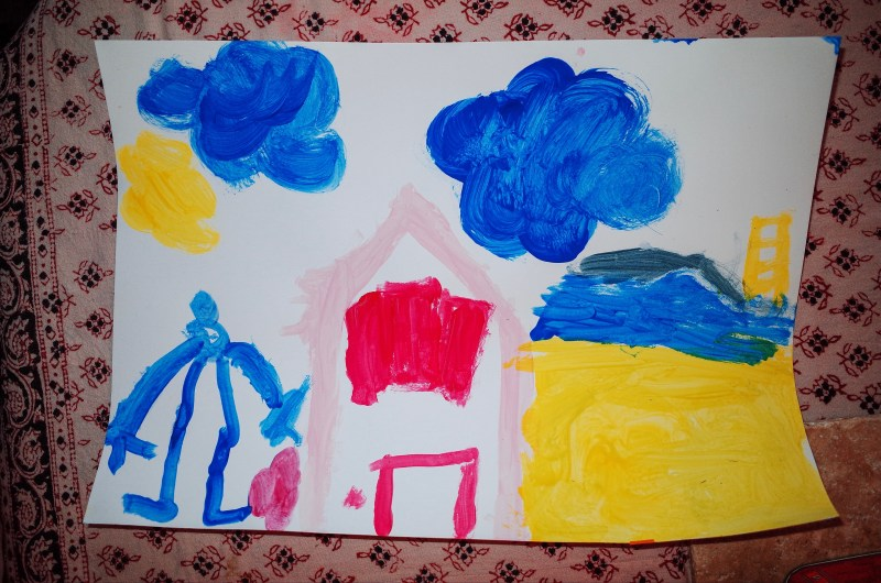 Painting by child, Margot in marseille