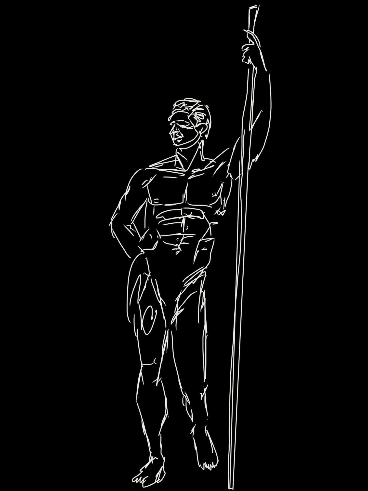 Ideal Ancient Greek physique.