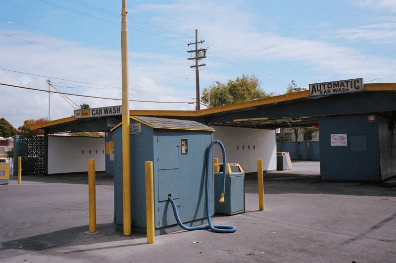 Urban landscape of car wash. Berkeley, 2013