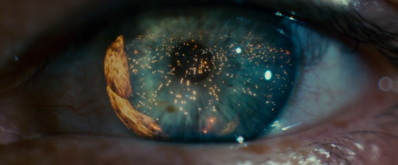 Ridley Scott, closeup of eye, beginning of blade runner movie