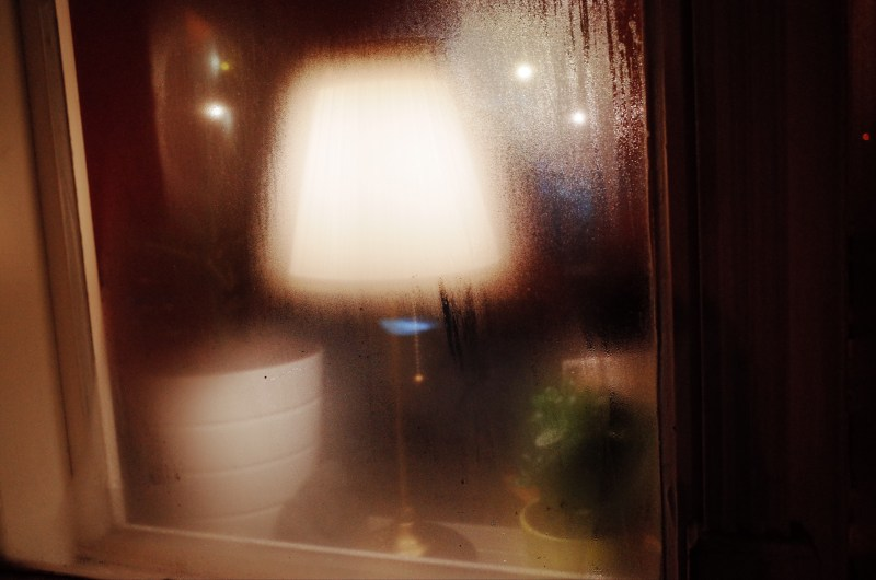 Blurry lamp. Prague, 2017
