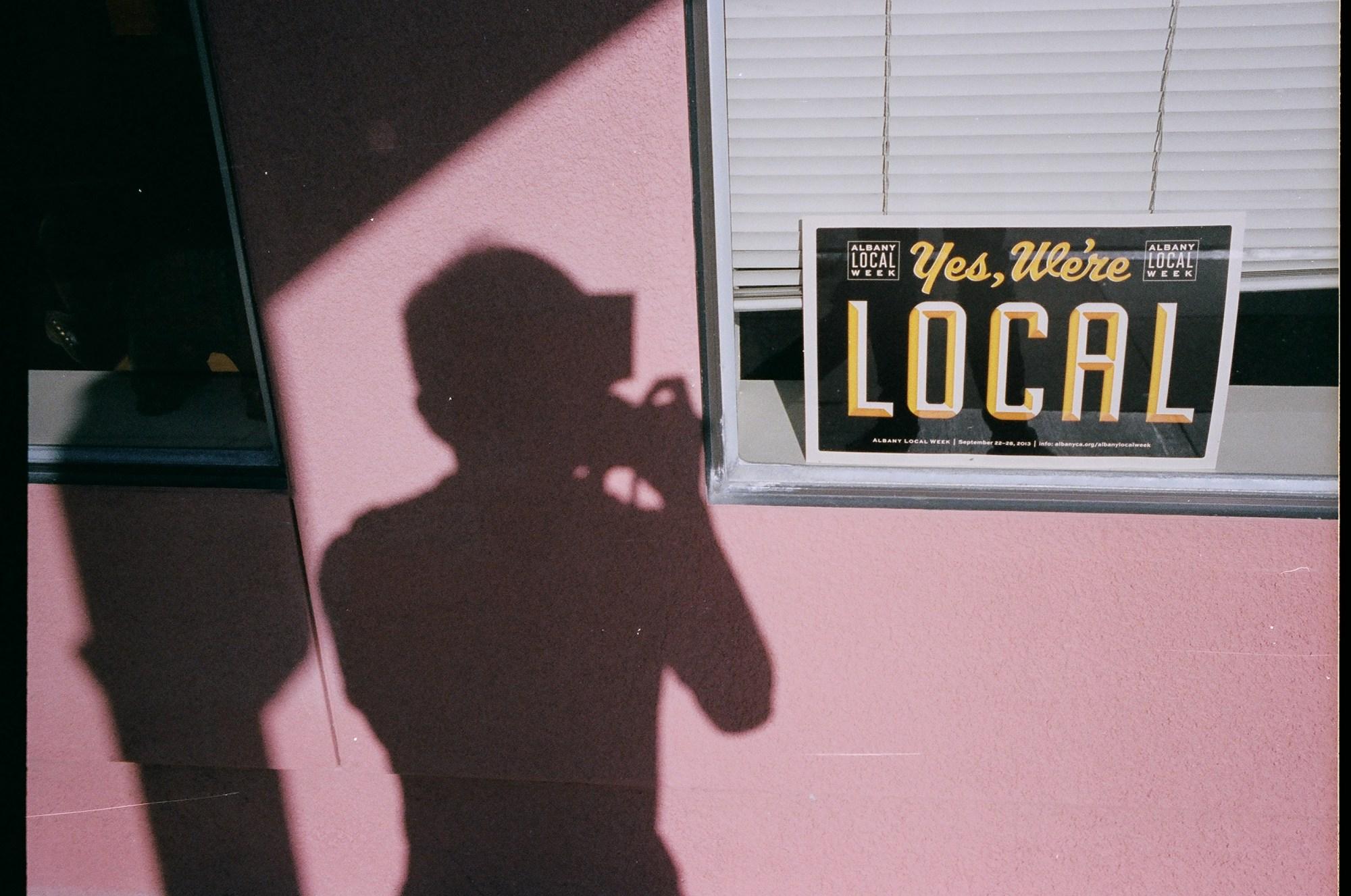 Yes, we're local. Berkeley self portrait shadow, 2013