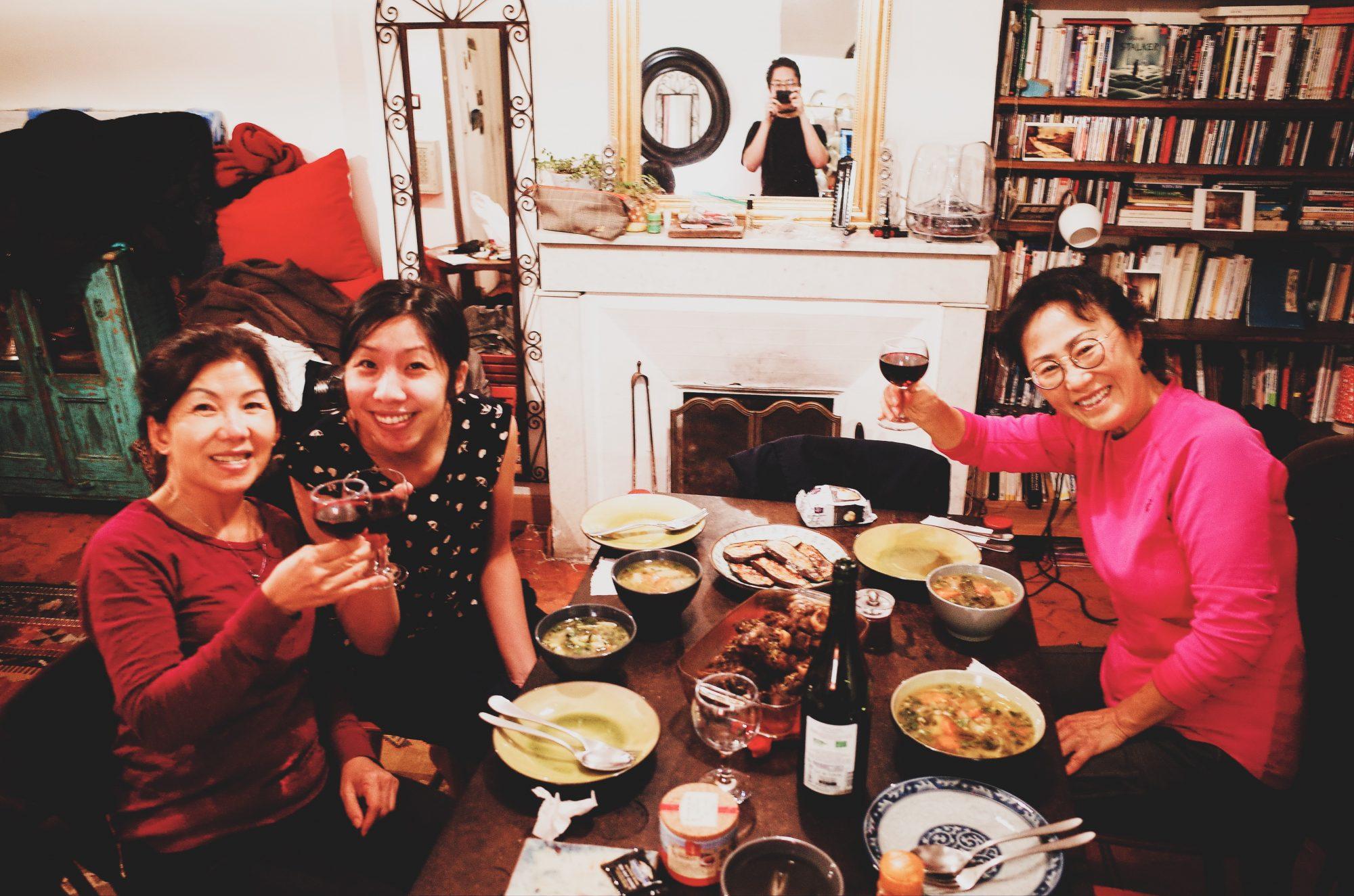 Family eating dinner. Marseille, 2017