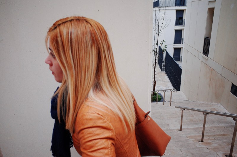 Woman with orange hair. Lisbon, 2018