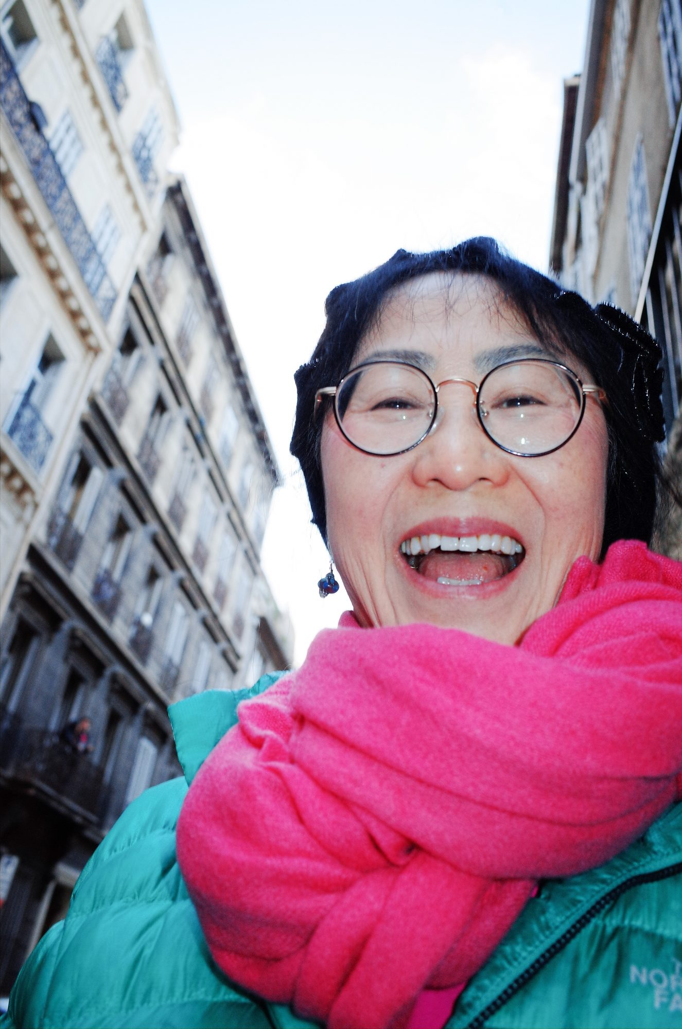 My mom laughing in marseille, 2018