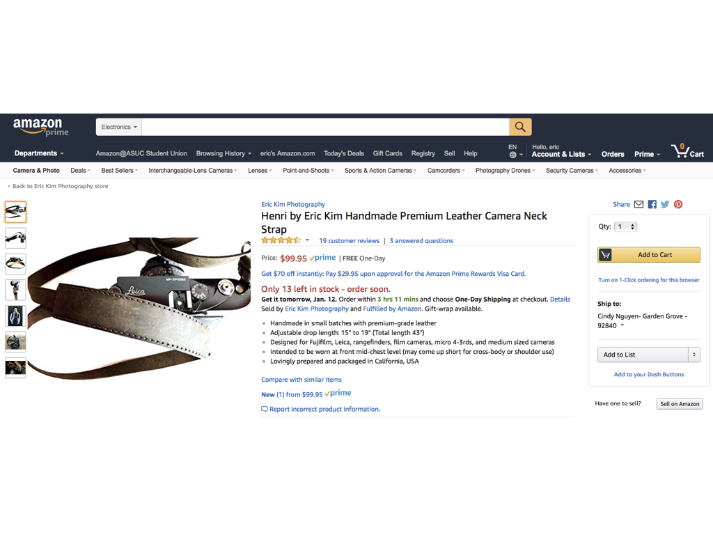 Henri Neck Strap on Amazon