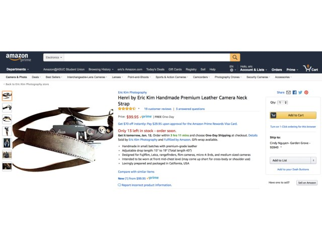 Henri Neck Strap on Amazon