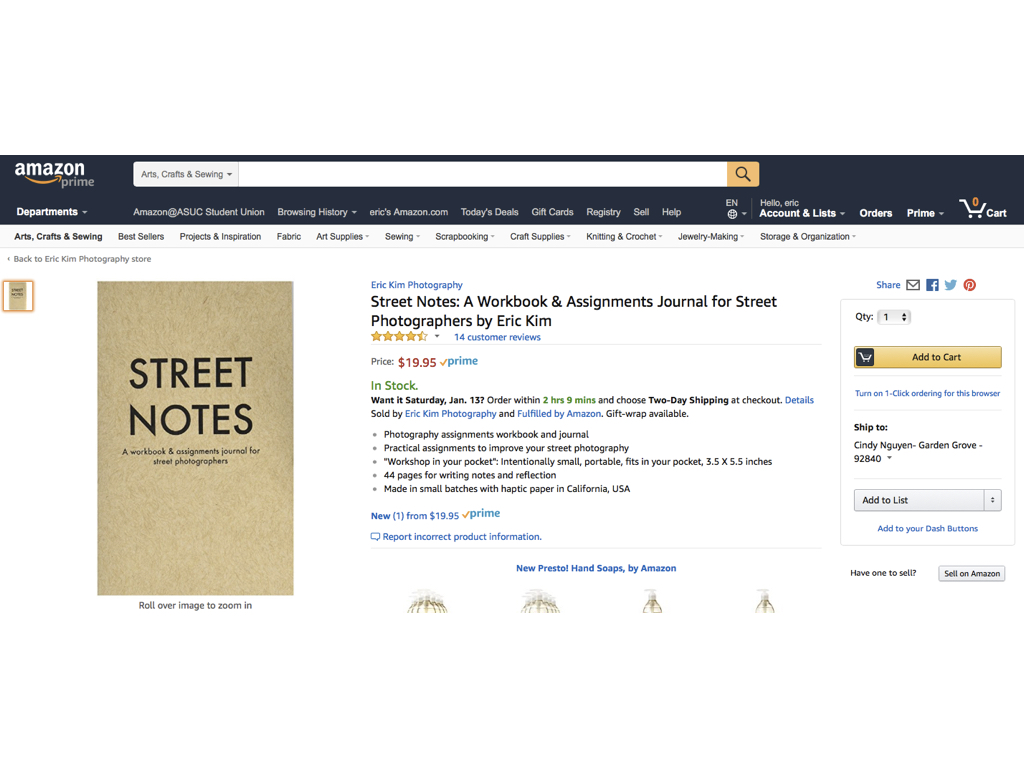 STREET NOTES on Amazon
