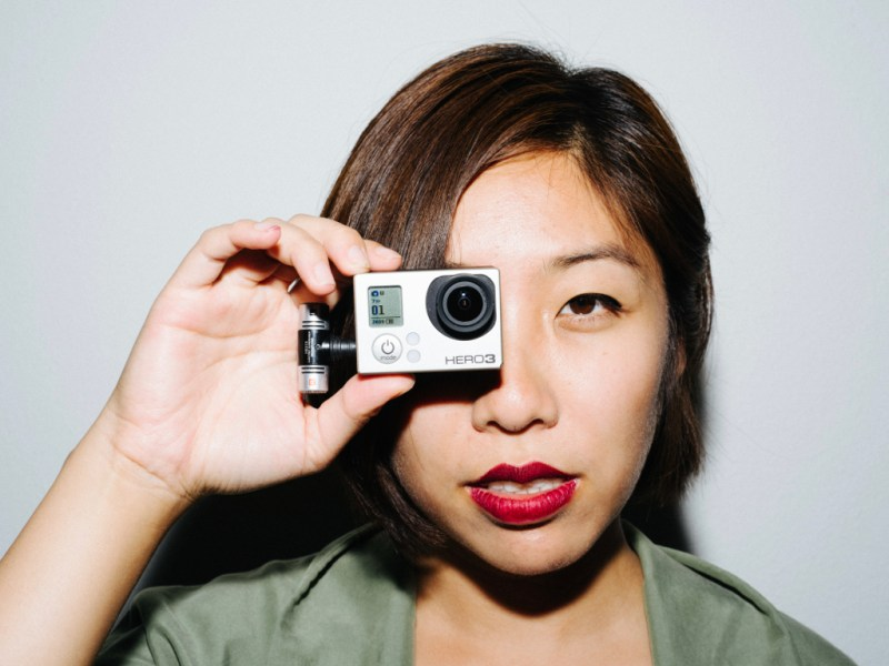 Cindy GoPro on eye