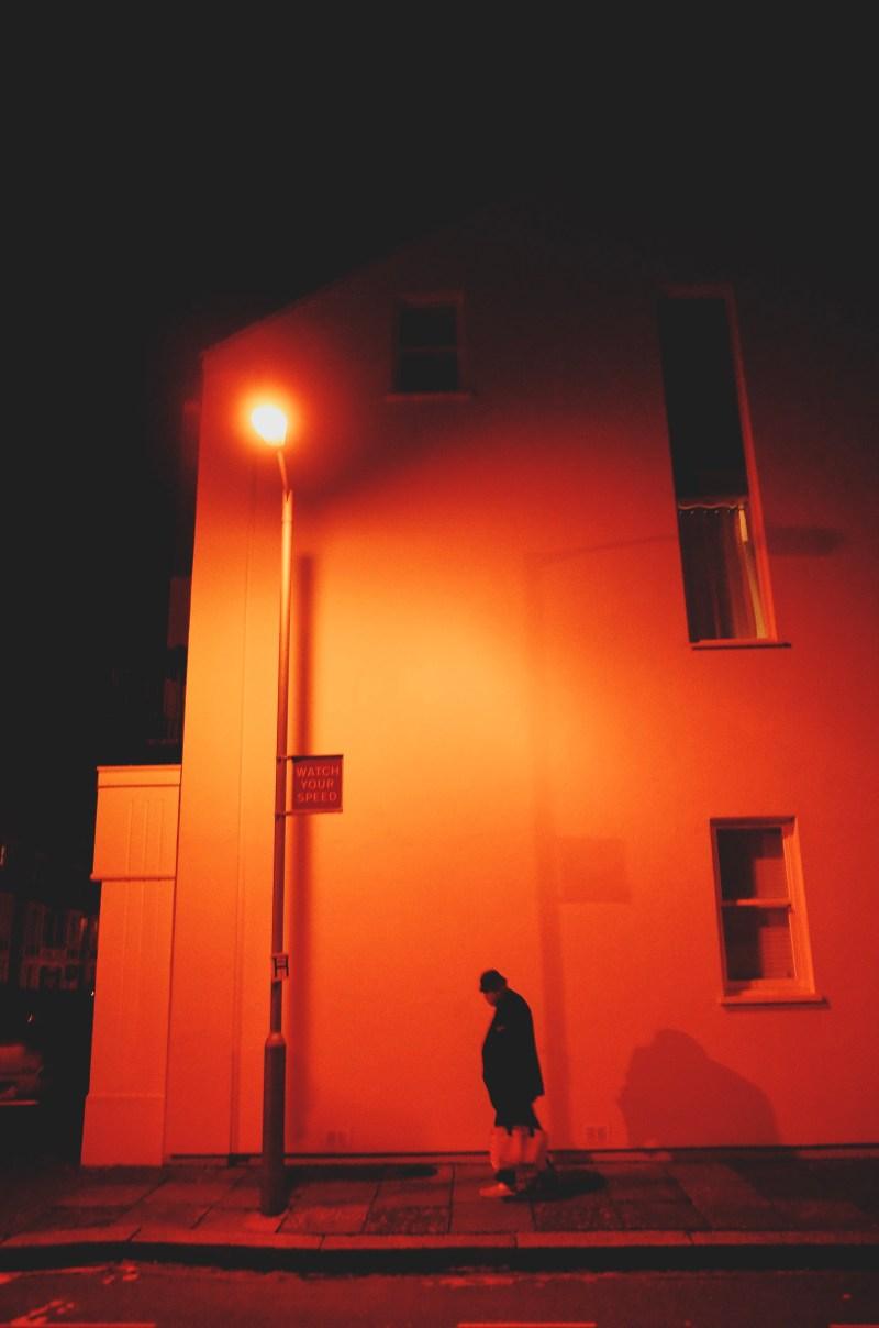 Silhouette. Night walk. London, 2018