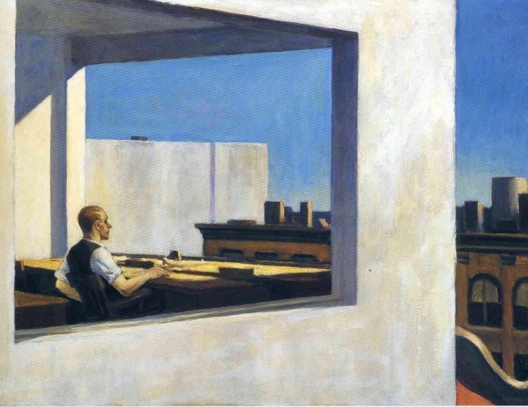 Edward Hopper office worker