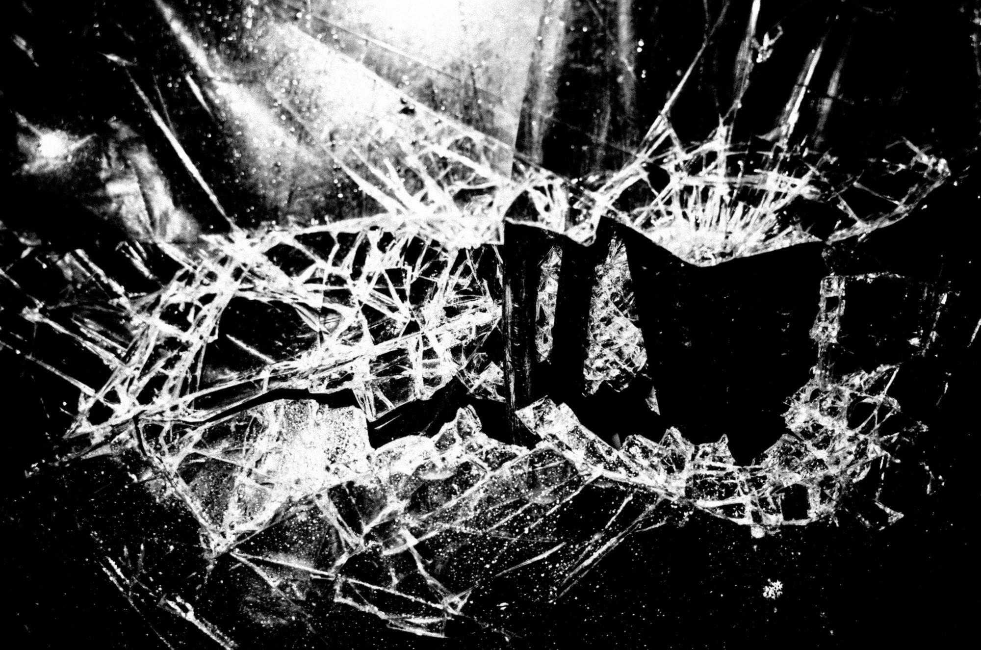 Broken glass. Hanoi, 2017 black and white