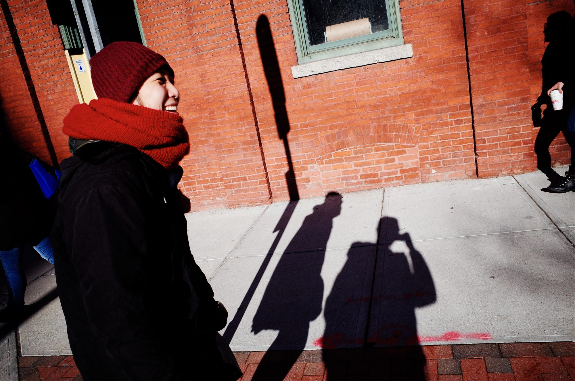 Cindy, selfie shadow. Boston, 2018