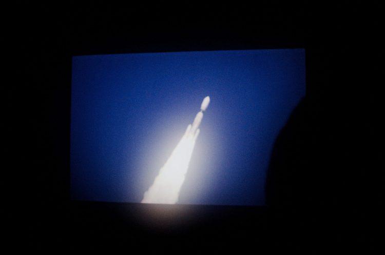Space takeoff rocket London screen