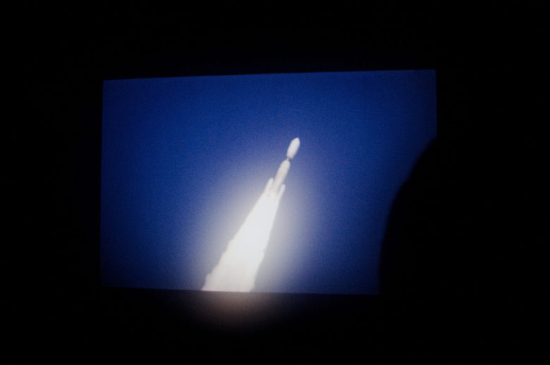 Space takeoff rocket London screen