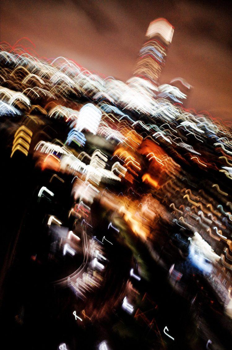 Blurred London skyline, 2018