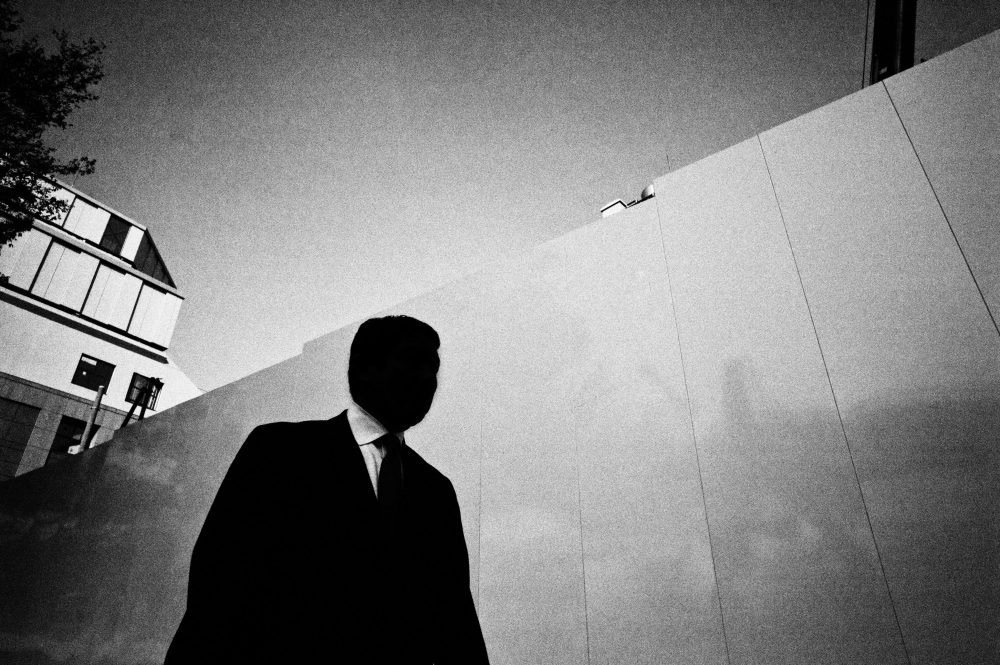 Black and white dark skies over Tokyo eric kim street photography