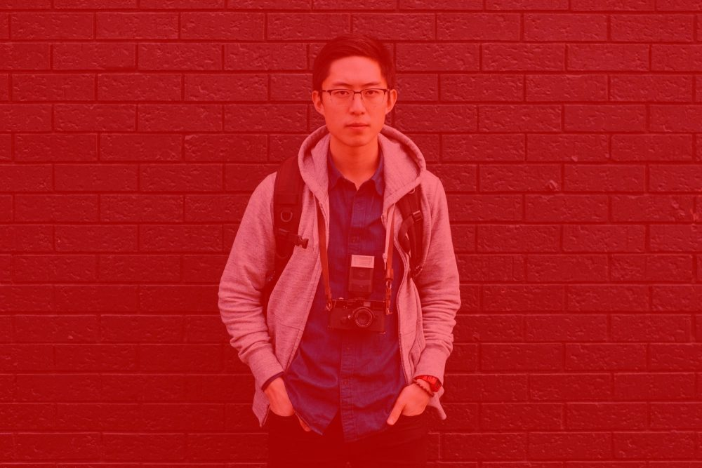 Eric kim portrait fade red