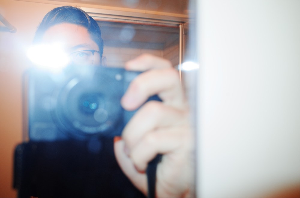 Eric kim bathroom selfie. Osaka, 2018