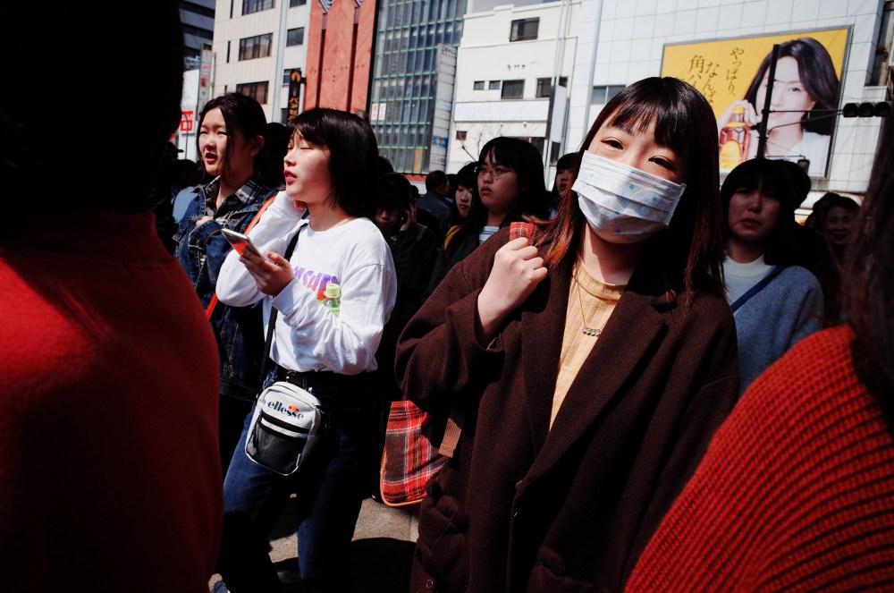 Walking people. Osaka, 2018