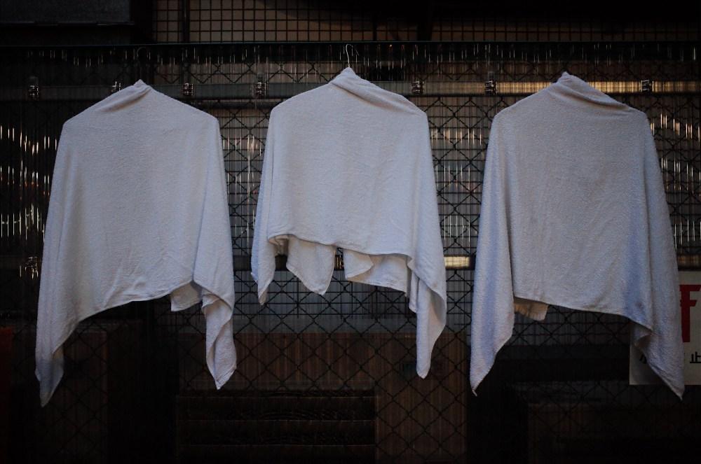Hanging towels. Osaka, 2018