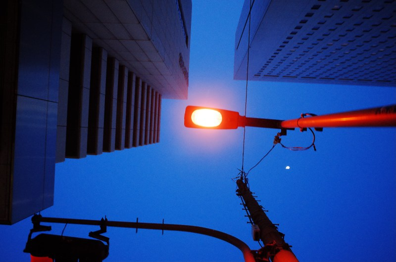 osaka night looking up