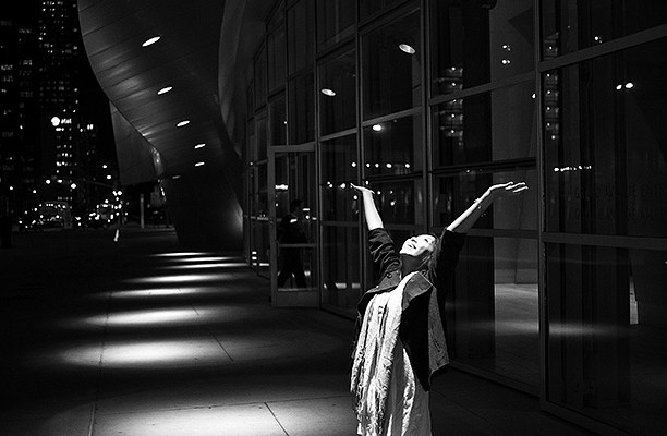 """""""The Spotlight"""" // Photograph of Cindy in Downtown LA, 2009. Canon 5D, 35mm"""