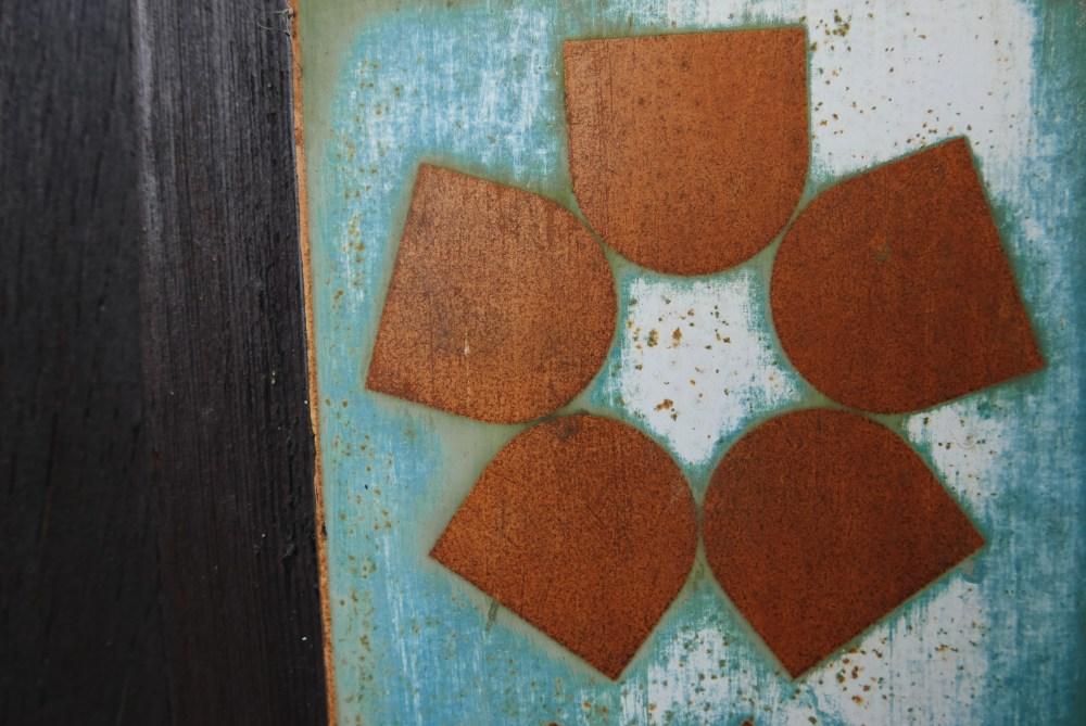 Closeup flower rust macro