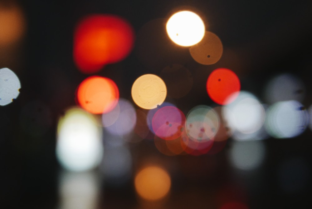Out of focus bokeh dots, Osaka