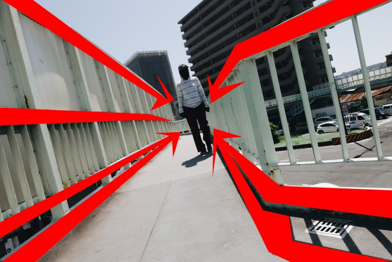 leading lines red