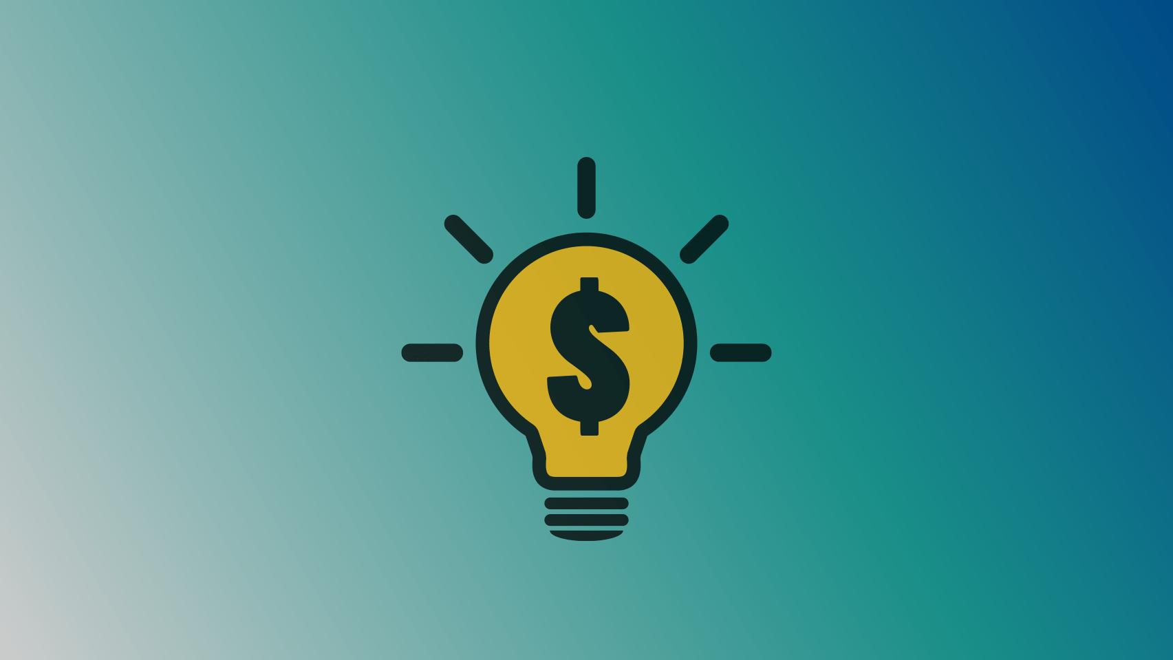 light bulb money icon