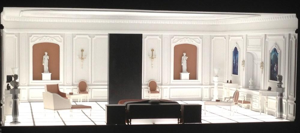 Bedroom model for the last scene in 2001: Space Odyssey